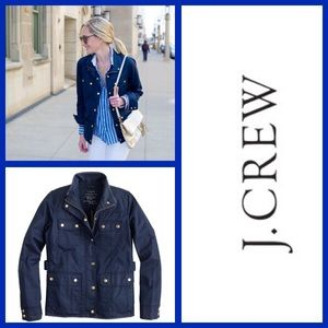 J. Crew Downtown Field Jacket Zip Up Snap Buttons